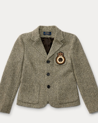 Patch Wool Herringbone Blazer