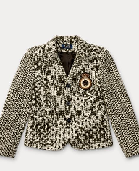 Patch Wool Herringbone Blazer