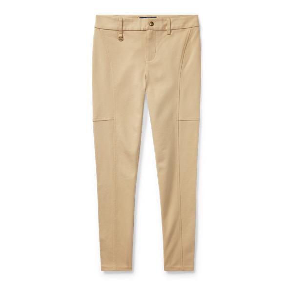 Ralph Lauren Cotton-Blend-Ponte Legging Fall Khaki S
