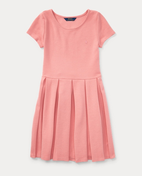 Pleated Ribbed Ponte Dress