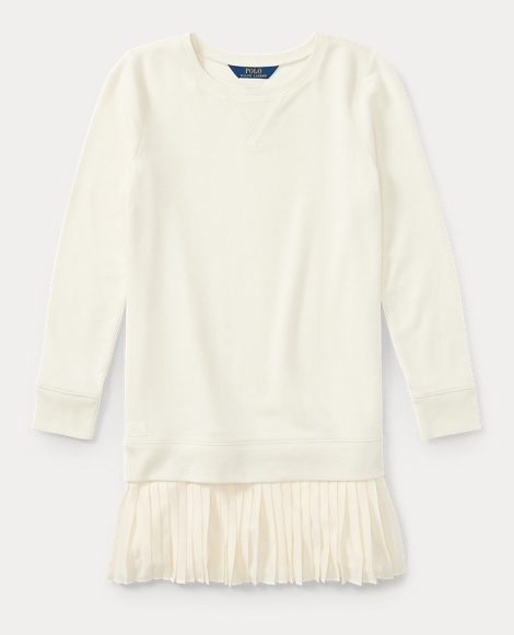 Pleated-Hem Sweatshirt Dress