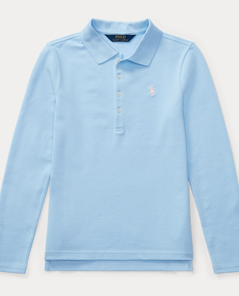 Cotton Long-Sleeve Polo