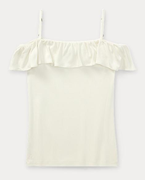 Ruffled Off-the-Shoulder Shirt