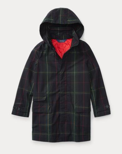 Plaid Cotton Raincoat