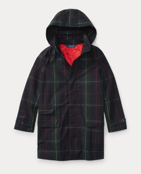 Plaid Cotton Raincoat