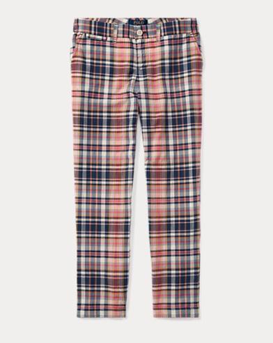 Plaid Cotton Madras Pant
