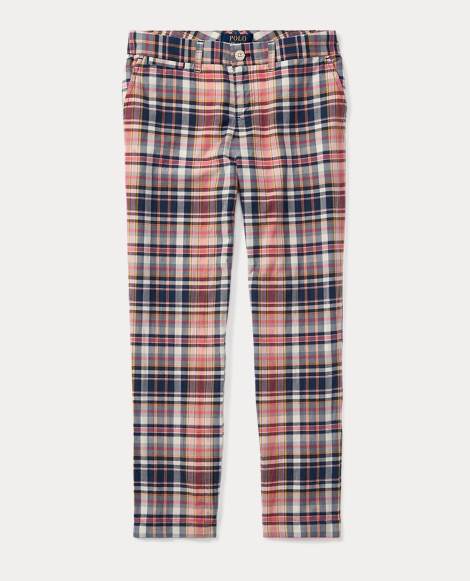 Plaid Cotton Madras Pant