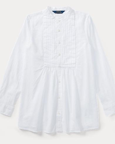 Pintucked Cotton Shirt
