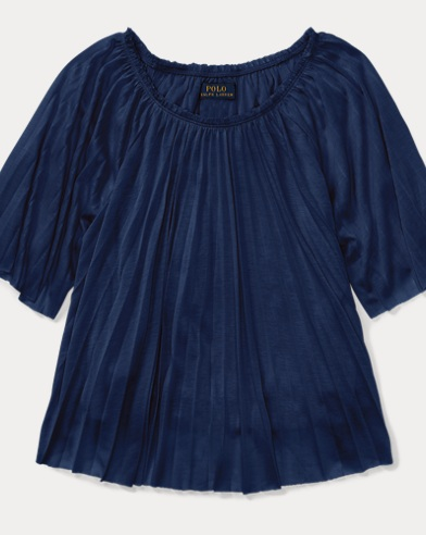 Pleated Jersey Top