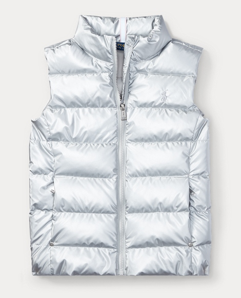 Metallic Down Vest