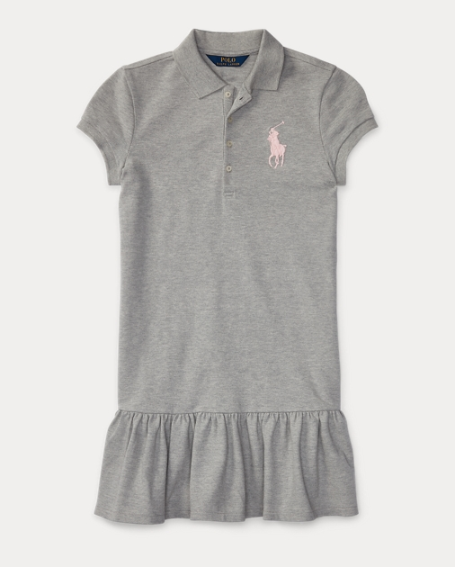 produt-image-0.0. produt-image-1.0. Kids Girls Dresses & Rompers Big Pony  Stretch Polo Dress