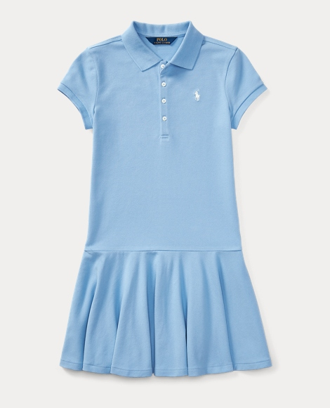 Mesh Short-Sleeve Polo Dress