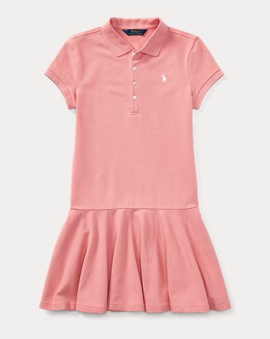 Mesh Short-Sleeve Polo Dress