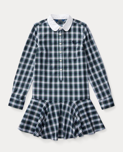 Tartan Ruffled Shirtdress