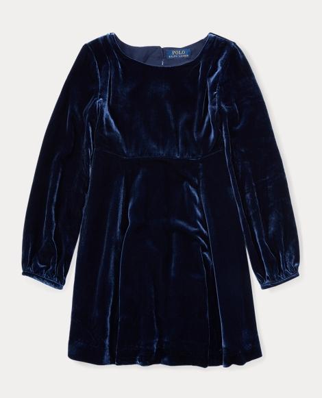 Velvet Long-Sleeve Dress