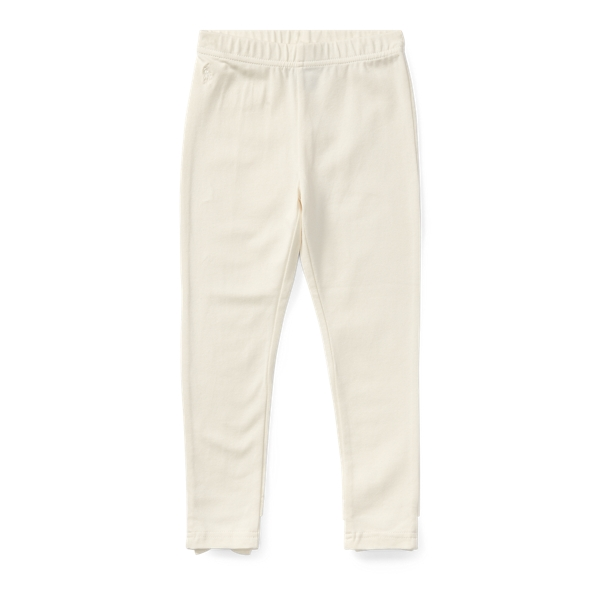 Ralph Lauren Bow-Back Jersey Legging Olympia Cream 3T