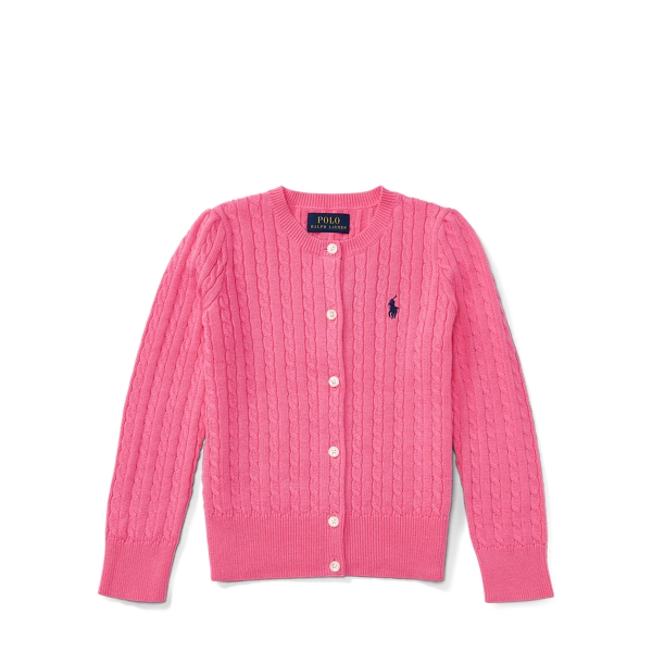 Ralph Lauren Mini-Cable Cotton Cardigan Baja Pink 5
