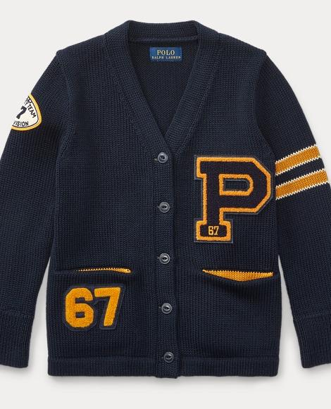 P-Patch Cotton Cardigan