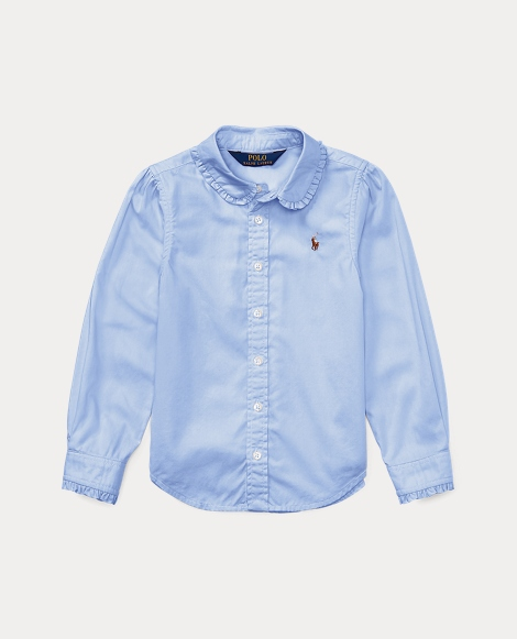 Ruffled Cotton Oxford Shirt