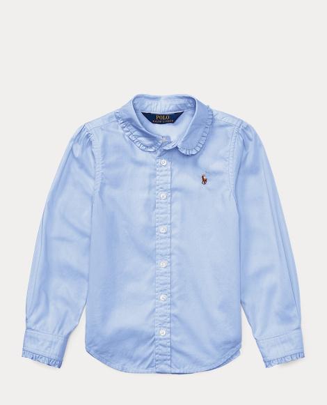 Ruffled Cotton Oxford Shirt