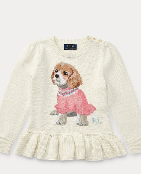 Puppy Cotton Peplum Sweater