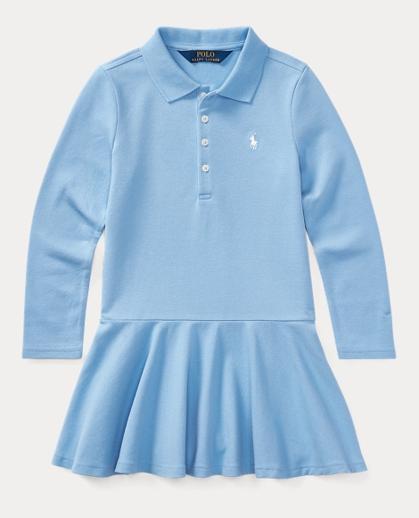 Cotton Long-Sleeve Polo Dress