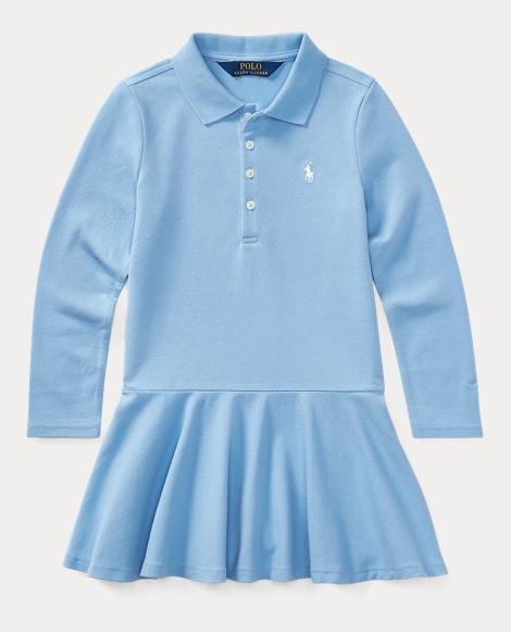 Cotton Long-Sleeve Polo Dress