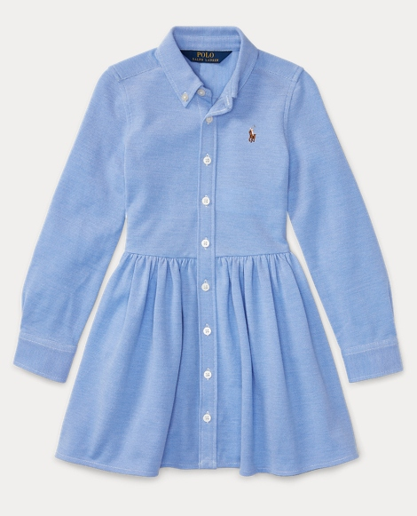 Knit Cotton Oxford Dress