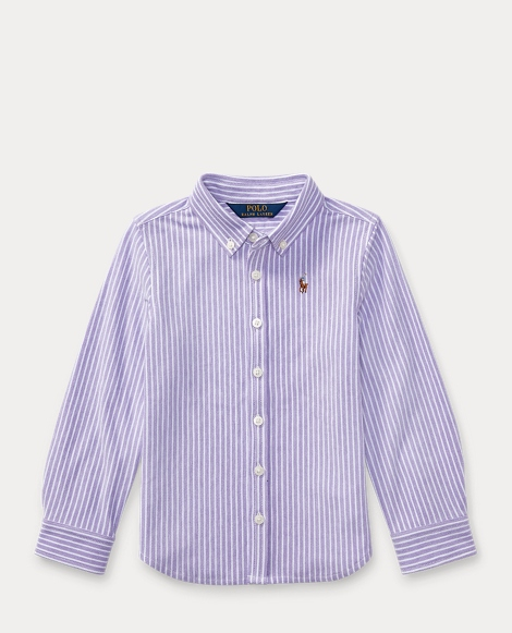 Striped Knit Oxford Shirt