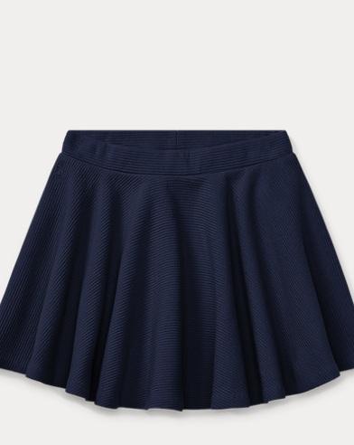 Ribbed Cotton Circle Skirt