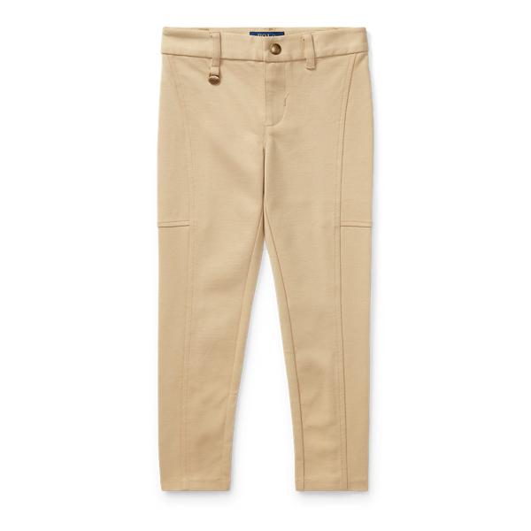 Ralph Lauren Cotton-Blend-Ponte Legging Fall Khaki 4T