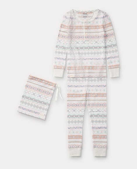 Fair Isle Cotton Pajama Set