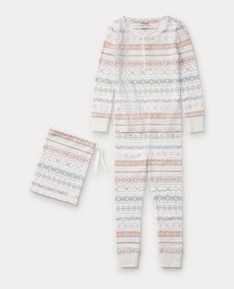 Fair Isle Cotton Pajama Set