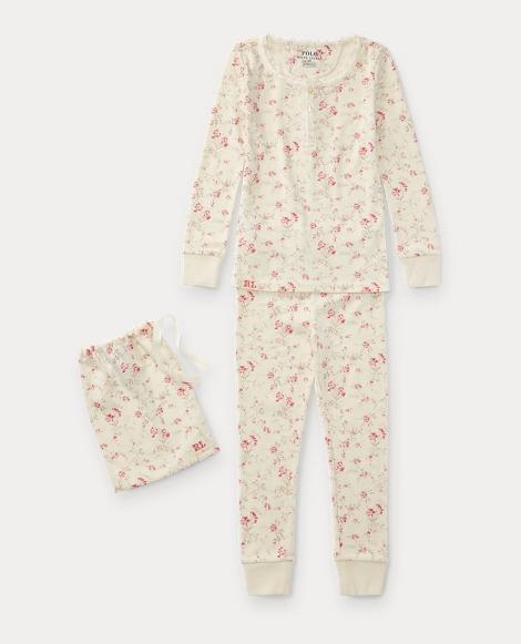 Floral Toile Cotton Pajama Set