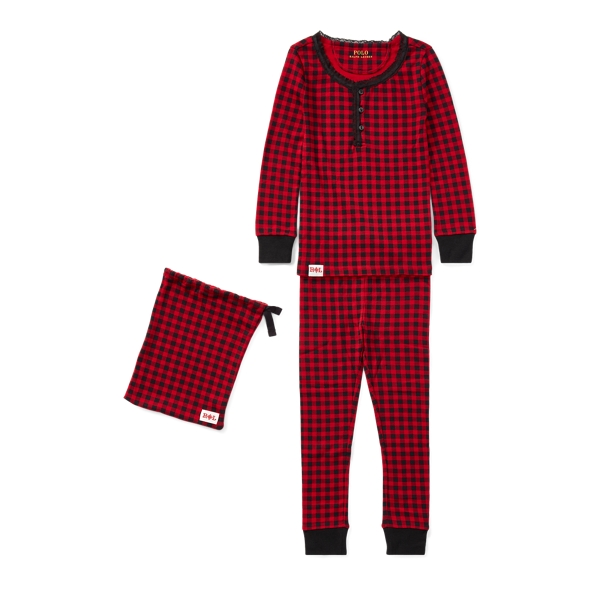 Ralph Lauren Buffalo Check Pajama Set Park Avenue Red / Black 5