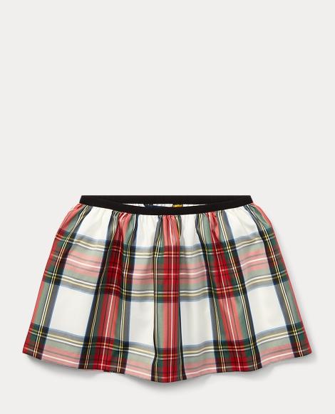 Tartan Taffeta Pull-On Skirt