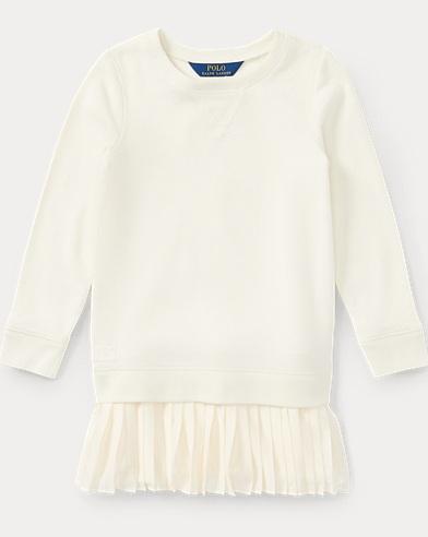Pleated-Hem Sweatshirt Dress