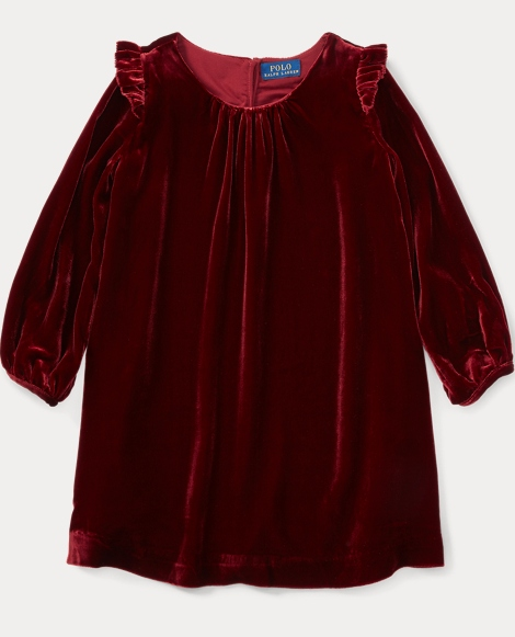 Velvet Long-Sleeve Dress