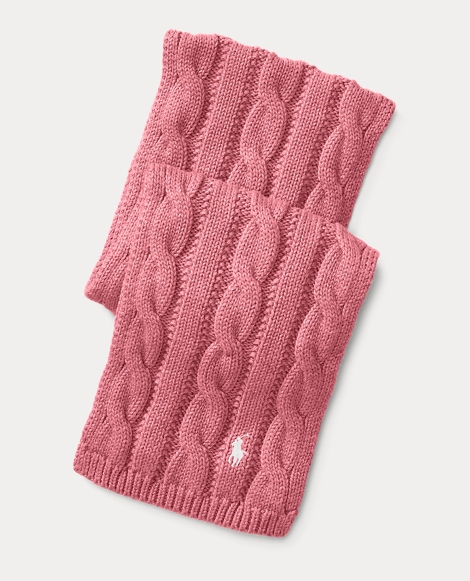 Cable-Knit Cotton Scarf