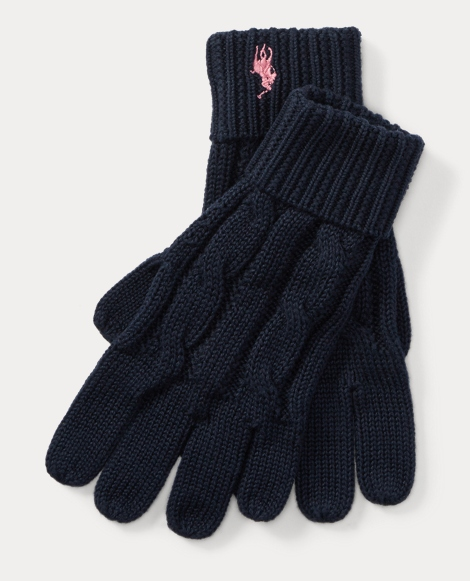 Cable-Knit Cotton Gloves