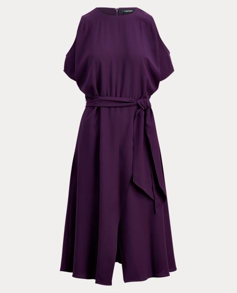 Cold-Shoulder Georgette Dress
