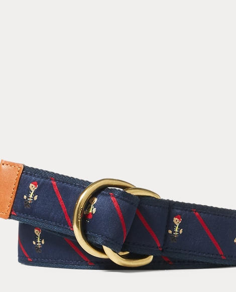 Polo Bear Ribbon D-Ring Belt