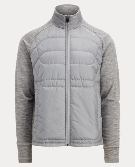 Paneled Stretch Wool Sweater