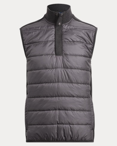 Knit-Paneled Ripstop Vest