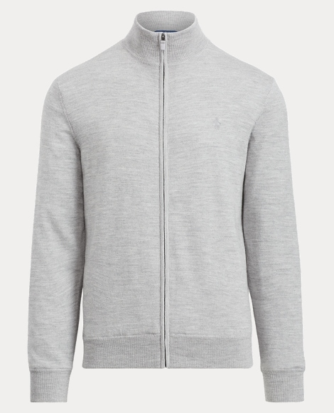 Merino Wool Full-Zip Sweater