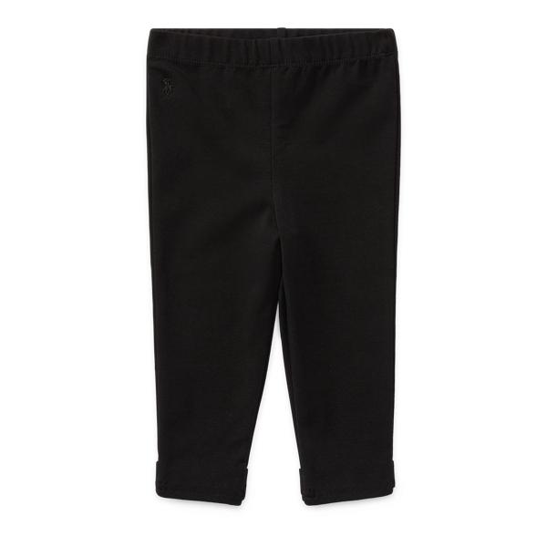 Ralph Lauren Bow-Back Legging Polo Black 6M