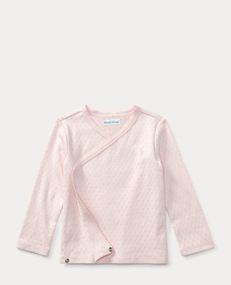 Pointelle-Knit Kimono Top