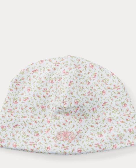 Floral-Print Cotton Hat