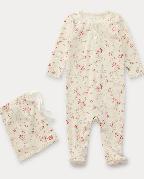 Floral Toile Sleep Coverall