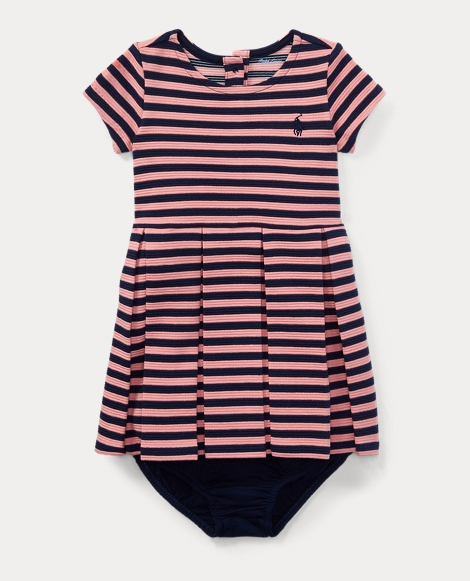 Stripe Pleated Dress & Bloomer